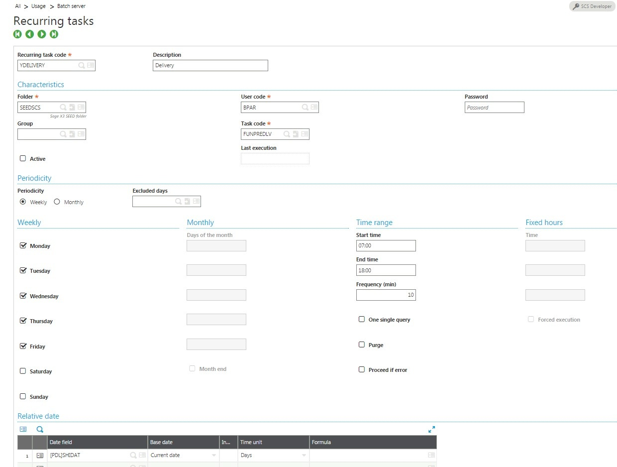 automating shipping in Sage X3