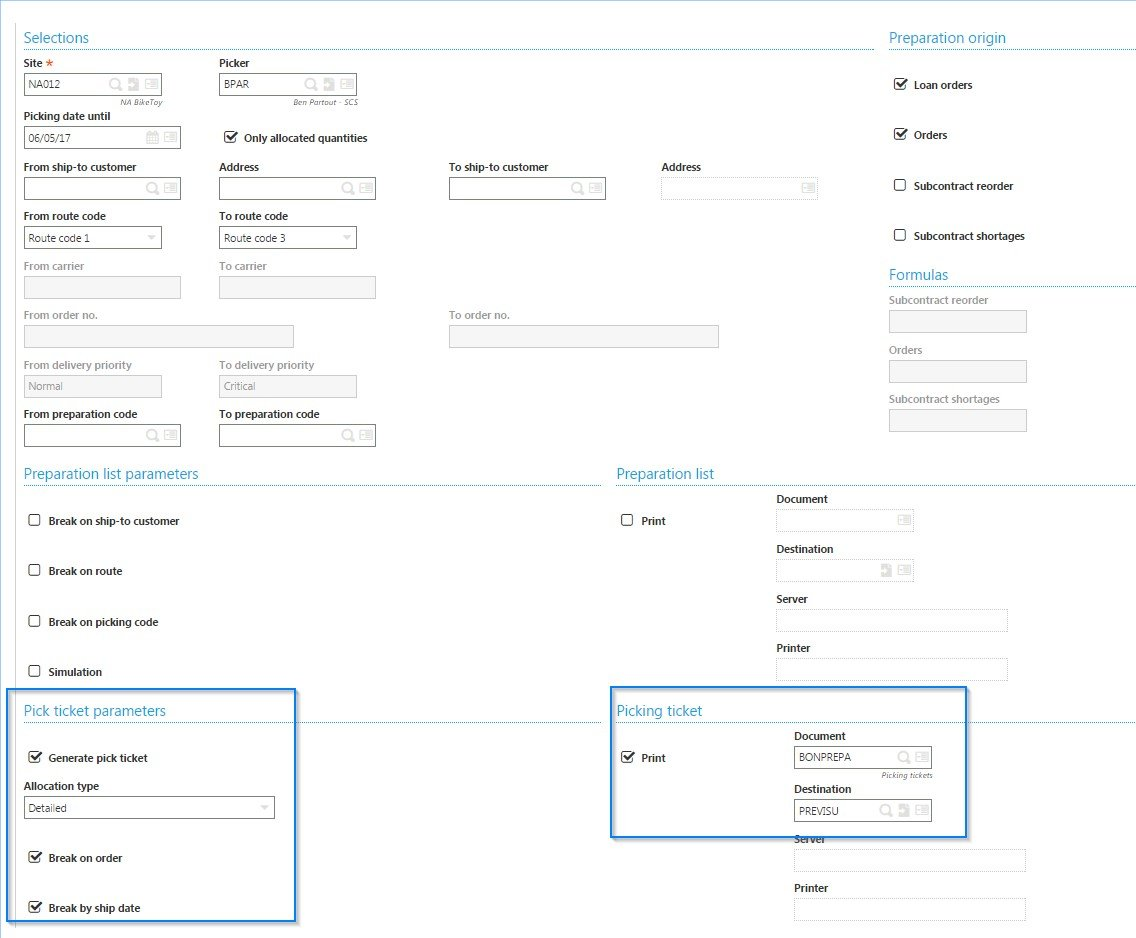automating shipping in Sage Enterprise Management (Sage X3)