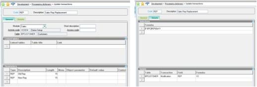 mass update in Sage Enterprise Management (Sage X3)
