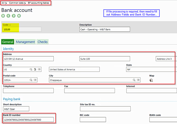 ACH Set-up and Processing with Sage Enterprise Management